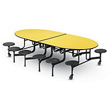 10u00271 W Mobile Cafeteria Table with Ellipse Shape - Stools  sc 1 st  K-Log Inc. & Cafeteria Tables u0026 Seating for School or Office - K-Log Inc. islam-shia.org