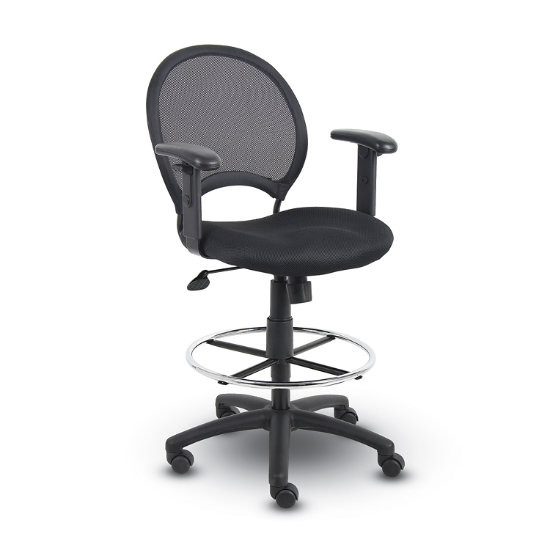 Miraculous Boss Office Products Boss B16216 Mesh Drafting Stool With Gmtry Best Dining Table And Chair Ideas Images Gmtryco