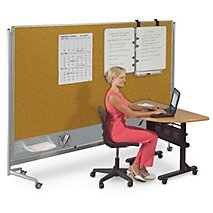 room dividers office. room divider nonmagnetic markerboard u0026 corkboard surfaces dividers office