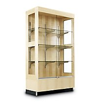 Wood Display Cabinet   Maple Finish