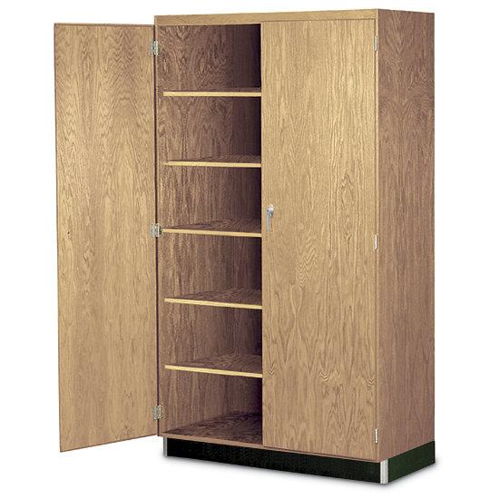 Wood Standard Storage Cabinet In Oak