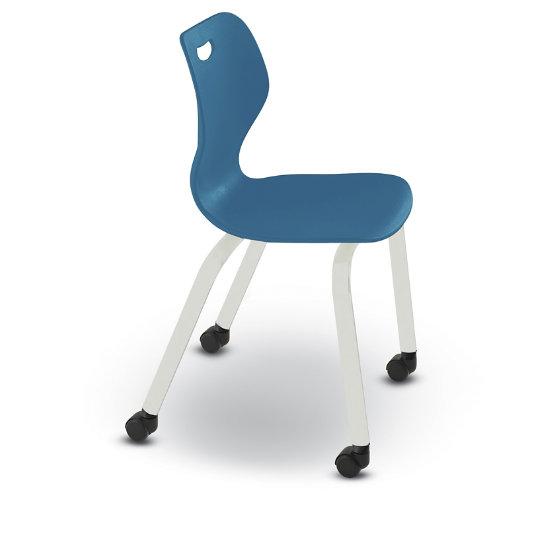 Ki Intellect Wave 4 Leg Chair With Carpet Casters Iw418c C