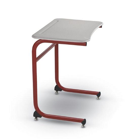 Evolve Cantilever Single Desk W Hard Plastic Top Ecd Spf
