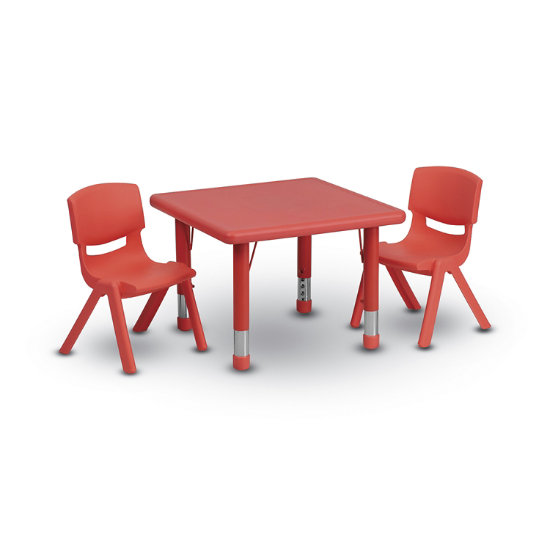 Astonishing Zing Square Plastic Table W Chairs Ibusinesslaw Wood Chair Design Ideas Ibusinesslaworg