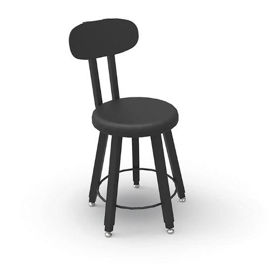 Strange Mighty 5 Leg Adjustable Height Stool W Urethane Seat Inzonedesignstudio Interior Chair Design Inzonedesignstudiocom