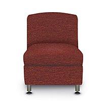 Accompany Metal Leg Armless Chair with Grade 3 Fabric