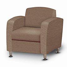 Accompany Metal Leg Lounge Chair (Grade 2-Fabric)
