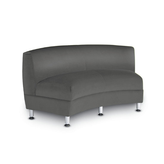 Langley 60 Inside Facing Curved Loveseat Ham Clf K Log