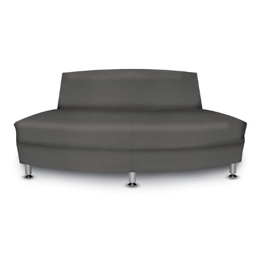 Langley 60 Outside Facing Curved Loveseat Ham Clo K Log