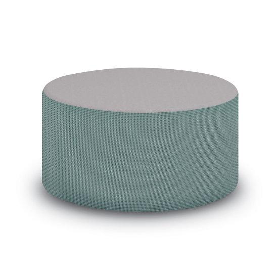 Cube Modular 36 Diameter Table Ottoman 2 Tone Vinyl Fabric