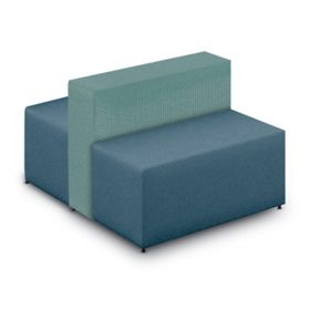 Flex Lounge Two Sided, Two Seat Chair   Grade 1 Two Tone Upholstery