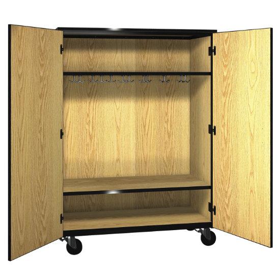 Deluxe Mobile Wardrobe Cabinet With Locking Doors