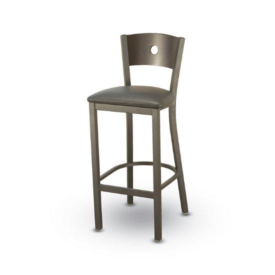 Remarkable Designer Cafe Stool W Wood Keyhole Back Vinyl Seat Forskolin Free Trial Chair Design Images Forskolin Free Trialorg