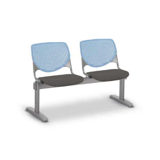 Flex Bow Beam Seating w/ 2 Vinyl Seats