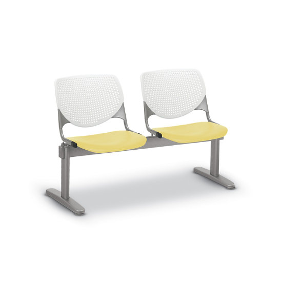 Flex Bow Beam Seating w/ 2 Plastic Seats