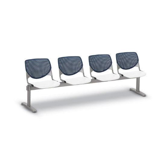 Flex Bow Beam Seating w/ 4 Plastic Seats