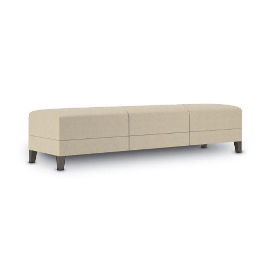 Sonnet 3-Seat Bench in Fabric