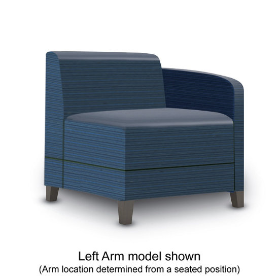 Sonnet Single Arm Guest Chair in Designer Fabric