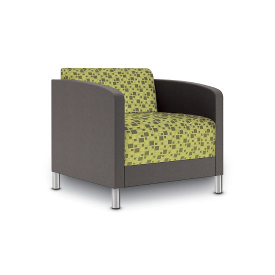Sonnet Guest Chair in Two-Tone Upholstery