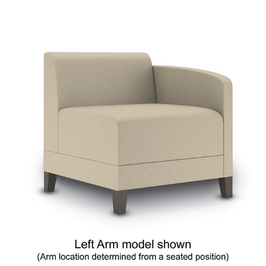 Sonnet Single Arm Guest Chair in Fabric