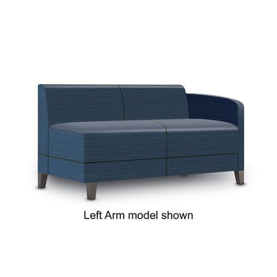 Sonnet Single Arm Loveseat in Designer Fabric