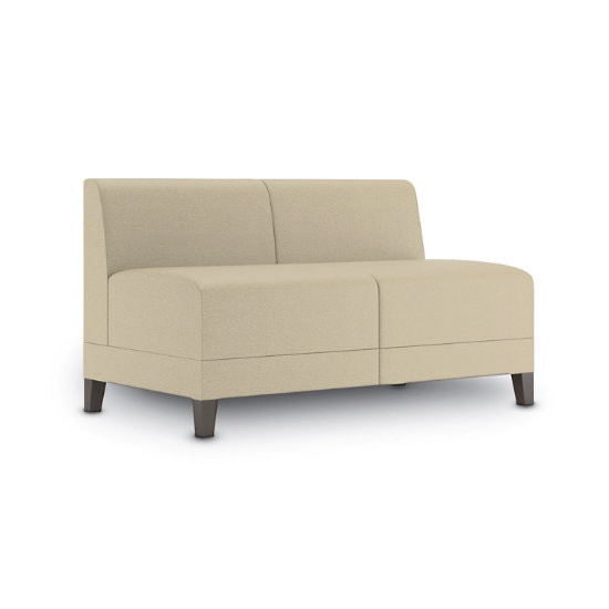 Sonnet Armless Loveseat in Fabric