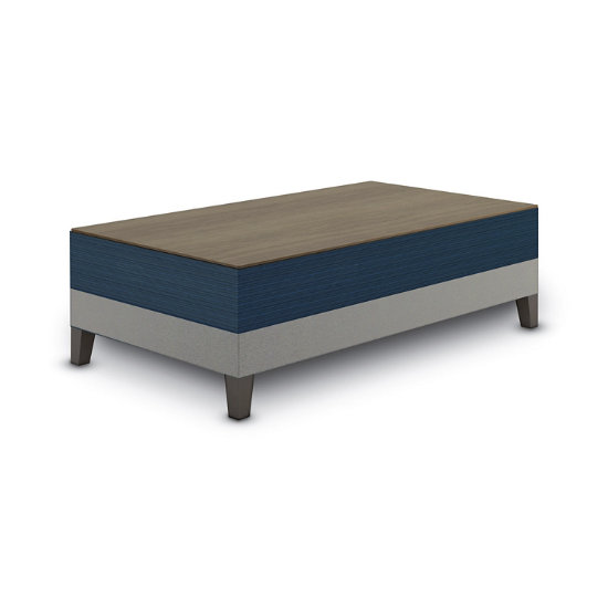Sonnet Coffee Table in Two-Tone Upholstery