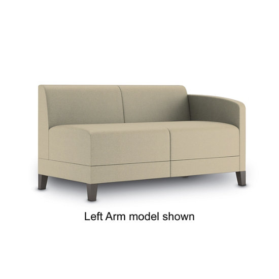 Sonnet Single Arm Loveseat in Fabric