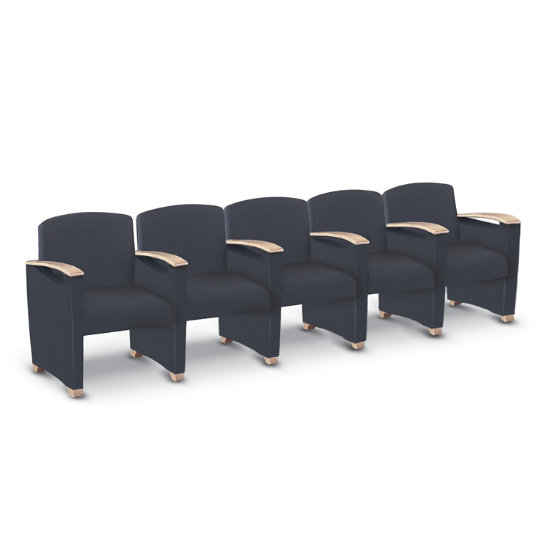 Fabric Endure Reception 5-Seat Sofa (Center Arms) - LOA-540 ...