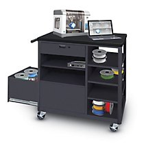 Vizion® Steel 3D Printer Cart with Storage Drawer Four Side Shelves