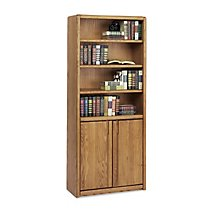 Oak Office Bookcase With Doors