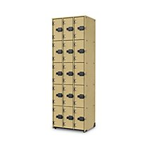 3 Wide 5 Tier Lyric Woodwind Storage   Solid Doors