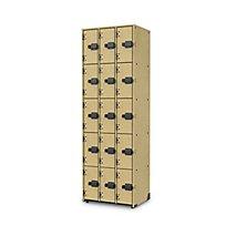 3 Wide 5 Tier Lyric Woodwind Storage   Solid Doors