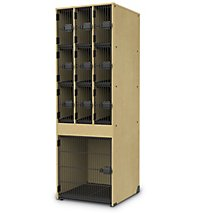 Delicieux Band Stor Instrument Storage Cabinet With 9 Small/1 Large Compartments    Wire Compartment