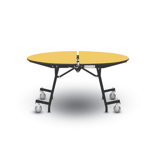 Concord Round Mobile Folding Table, Round Table Concord