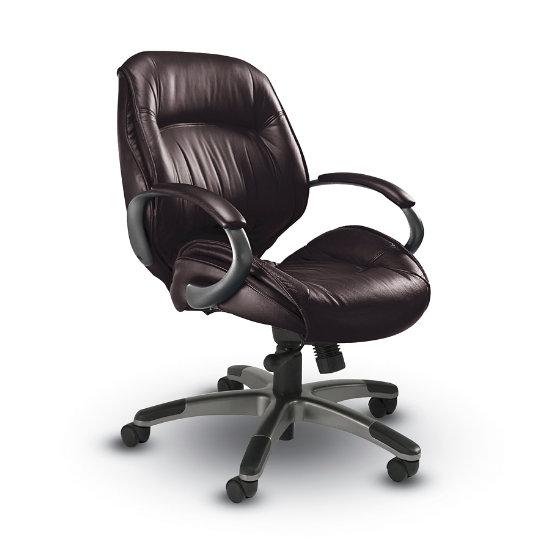 Groovy Ultimo Leather Series Mid Back Chair Myul 1Mb K Log Spiritservingveterans Wood Chair Design Ideas Spiritservingveteransorg