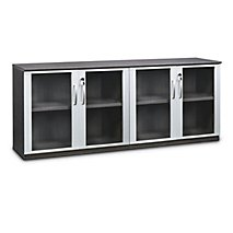 Napoli Low Wall Cabinet with Glass Doors