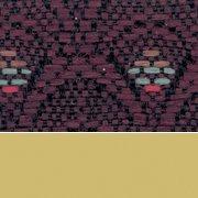 Diamond Burgundy Fabric / Gold Frame