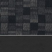 Black Vinyl / Nickel Fabric