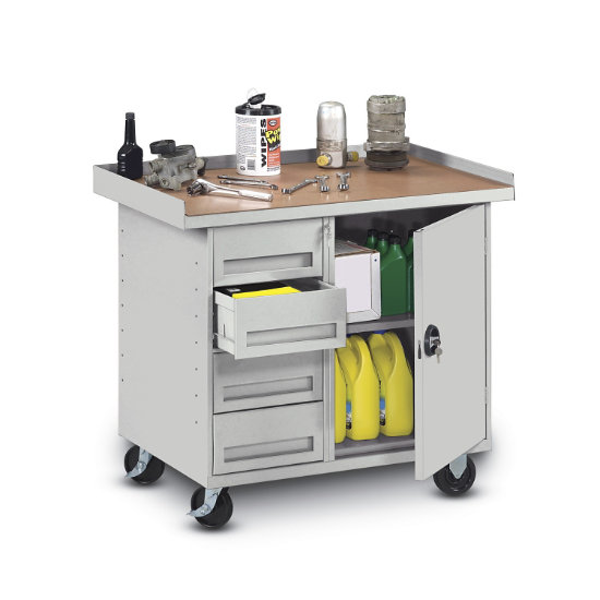 Awesome Dura Steel Mobile Workbench With 4 Drawers Andrewgaddart Wooden Chair Designs For Living Room Andrewgaddartcom