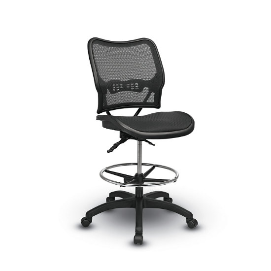 Space® Seating 13 Series Deluxe Ergonomic Air Grid® Seat And Back Drafting  Chair Image