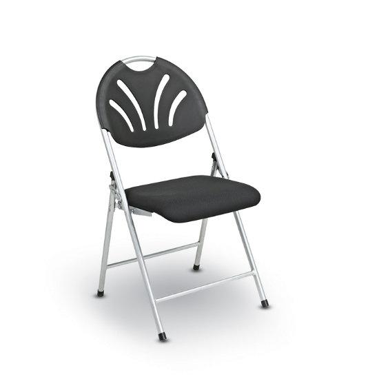 Admirable Fan Back Folding Chair W Fabric Seat Set Of 4 Perf 1 K Log Ibusinesslaw Wood Chair Design Ideas Ibusinesslaworg