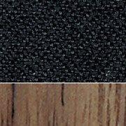 Black Fabric/American Walnut Wood Finish