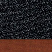 Black Fabric/Cherry Wood Finish