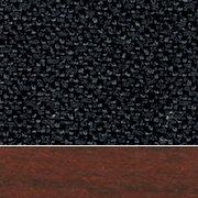 Black Fabric/Mahogany Wood Finish