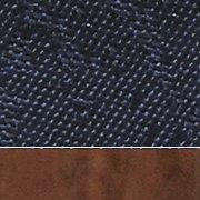 Blue Fabric/Cherry Wood Finish