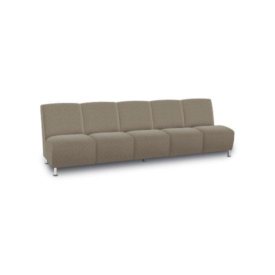 Caria 5-Seat Sofa in Designer Fabric - Armless