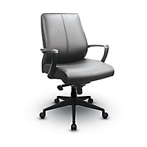 tempurpedic midback office chair leather seat and back