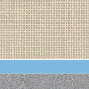 Custom: Flax Linen/ Cerulean /Platinum