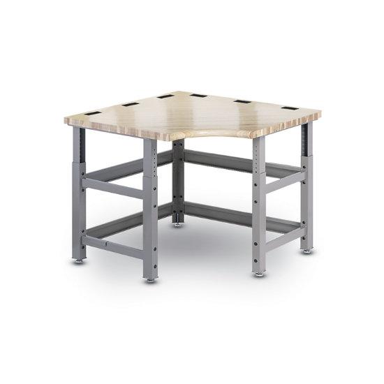Sensational Techworks Corner Workbench W Butcherblock Top Grommets Beatyapartments Chair Design Images Beatyapartmentscom